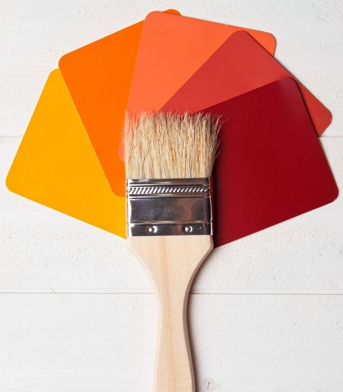 Paleta de colores para interiores de otoño